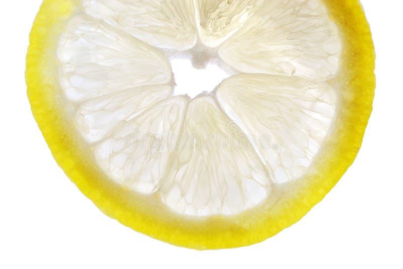 Part fraîche de citron photo stock
