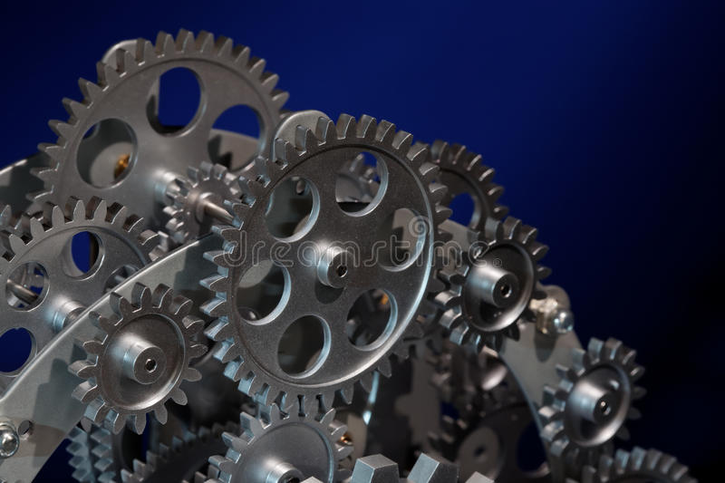 Download Part of gears. stock image. Image of metallic, industrial - 21649581