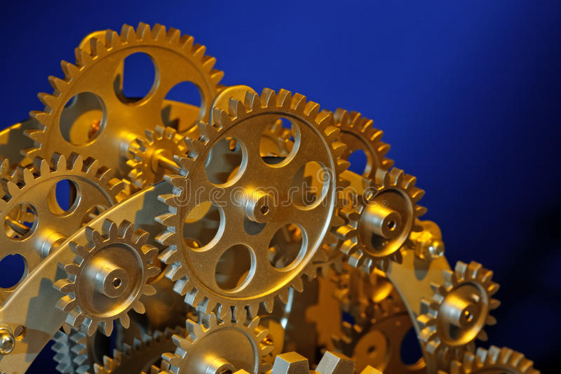 Download Part of gears. stock photo. Image of metallic, gold, connection - 26998544