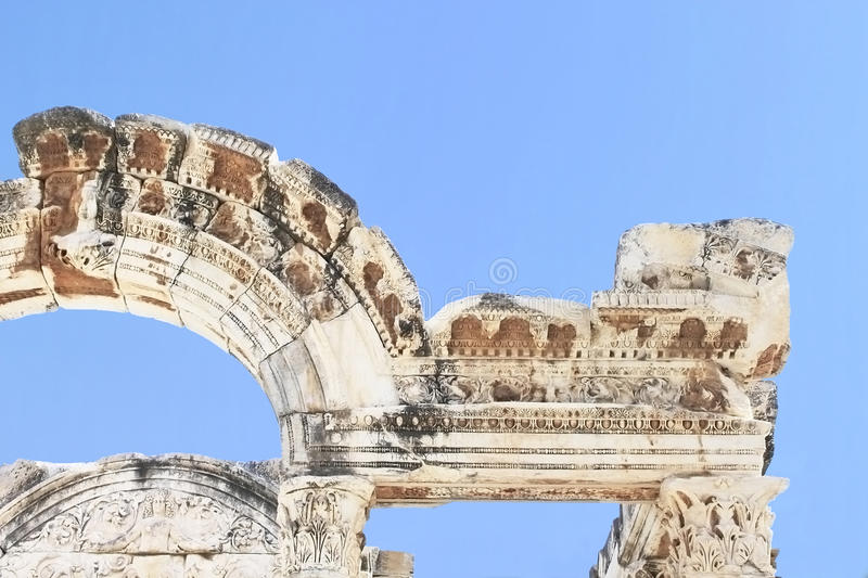 Part Of Hadians Temple In The Old Ruins Royalty Free Stock Photography