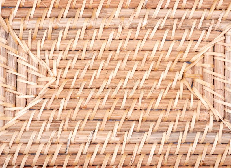 Part of handwoven in Indonesia exotic and functional rattan storage basket like background. Part of handwoven in Indonesia exotic and functional rattan storage royalty free stock image
