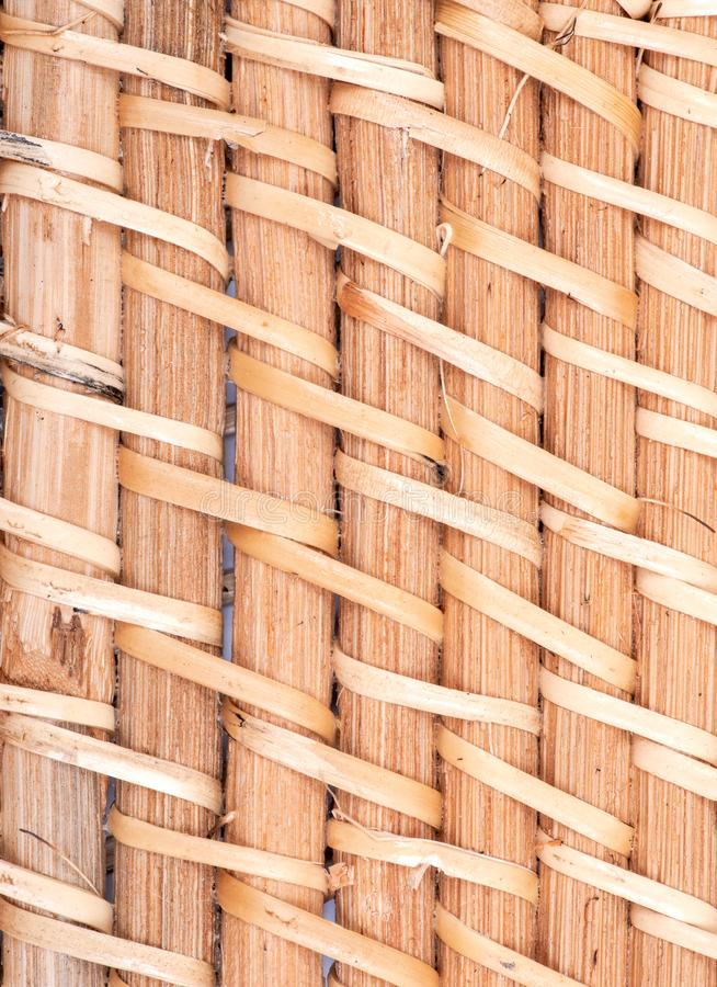 Part of handwoven in Indonesia exotic and functional rattan storage basket like background. Part of handwoven in Indonesia exotic and functional rattan storage stock photo