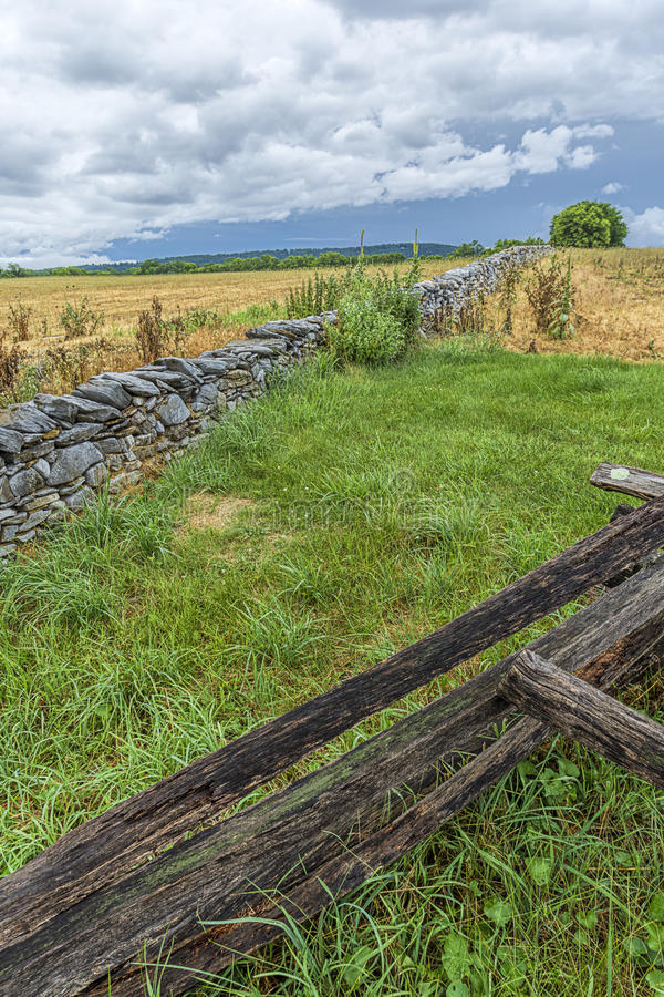 Part of the historic Antietam. The landscape in the countryside of the historic Antietam battlefield in Maryland stock image