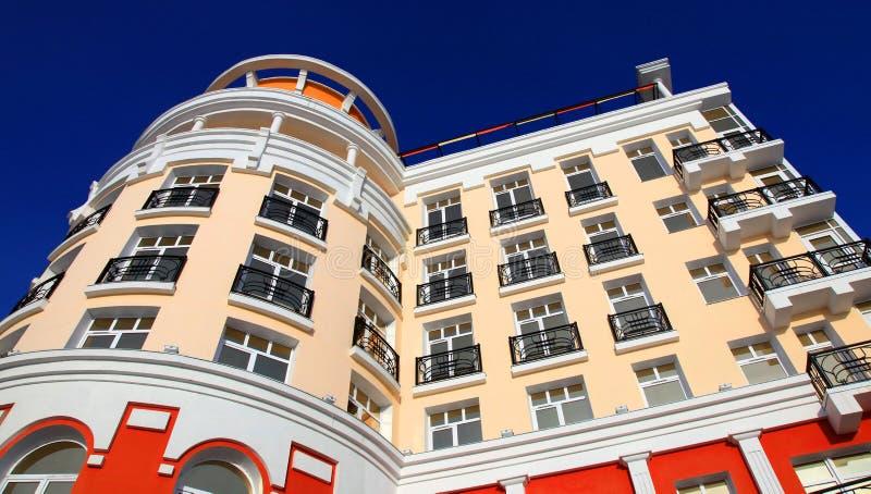 Part of the hotel. Listvyanka settlement, Lake Baikal, Russia royalty free stock photography