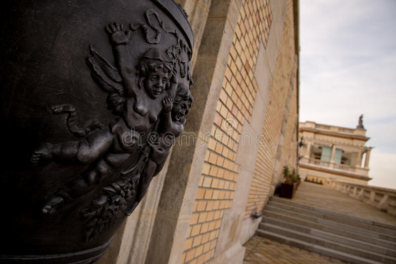Part of hungarian sculpture royalty free stock image