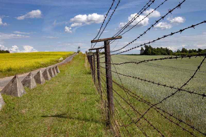 This is part of Iron curtain from Czech and Austria royalty free stock photos