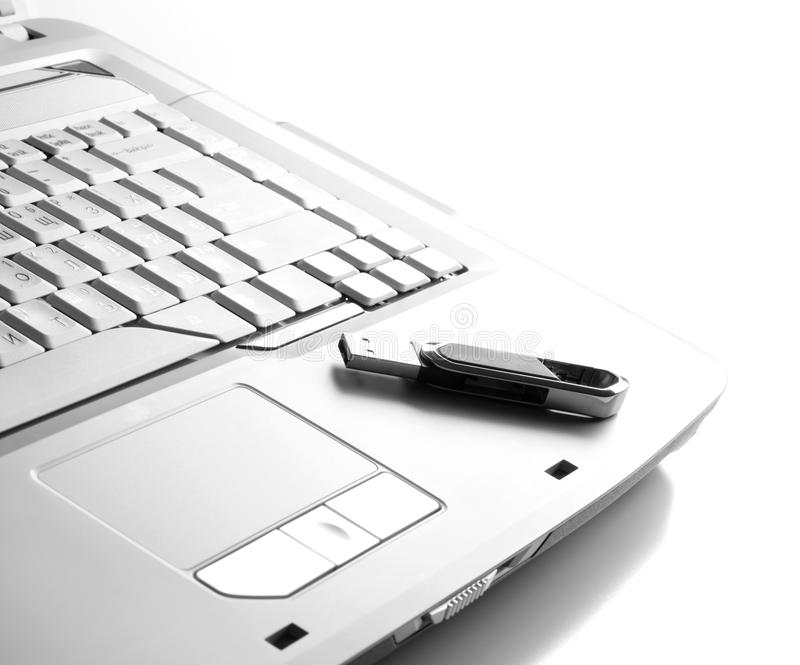 Download Part Of Keyboard With Flash Device On It Stock Image - Image: 17286093