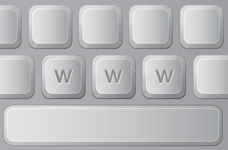 Part Of Keyboard With Letters W Stock Photography