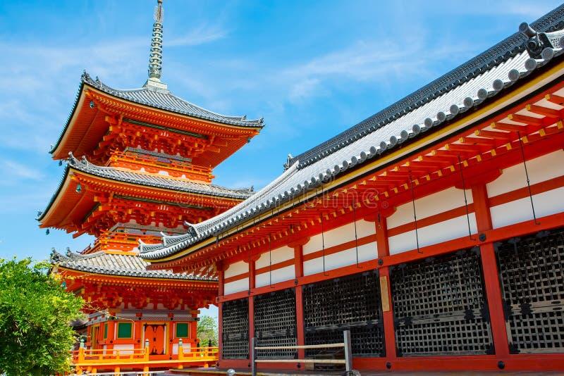Part of Kiyomizu-dera Temple in Kyoto, Japan stock image