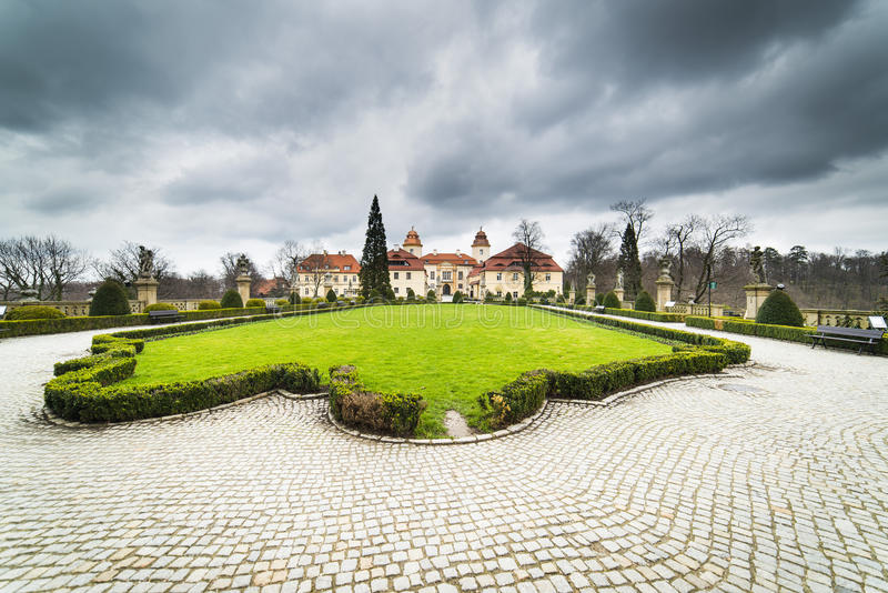 Part of Ksiaz Castle stock photography