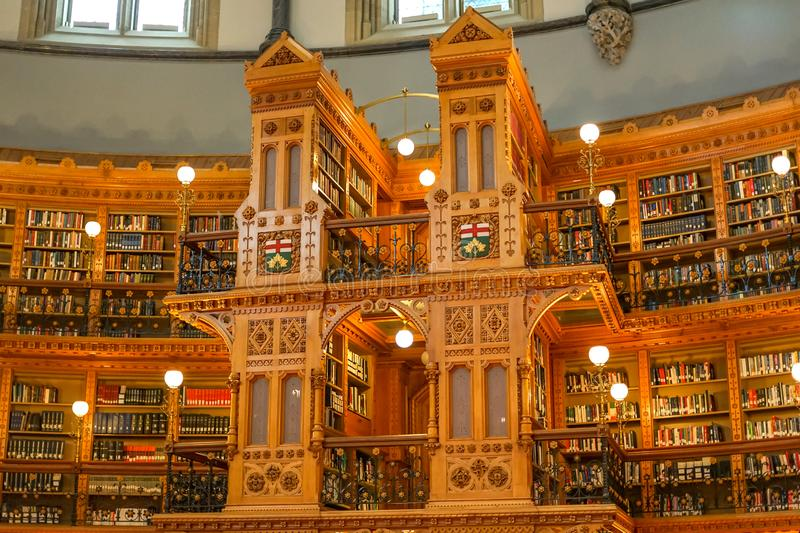 A part of Library room in Ottawa Parliament stock photos