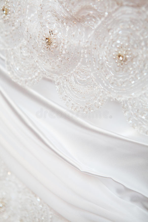 Part Of A Luxury Dress Royalty Free Stock Photos