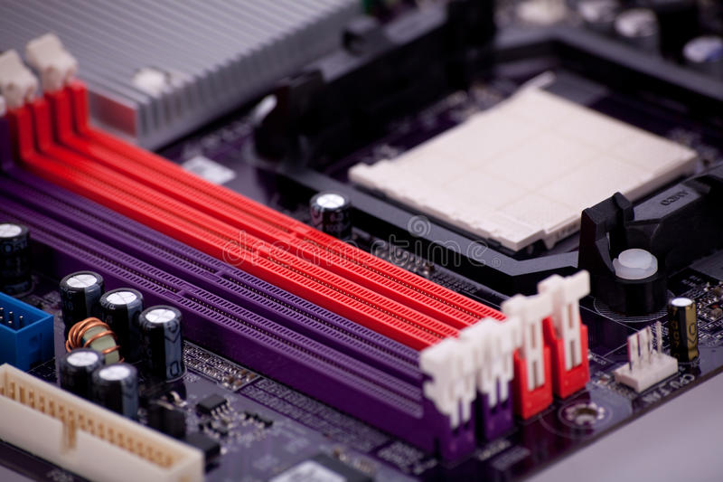 Download Part of a mainboard stock image. Image of digital, condenser - 10947185