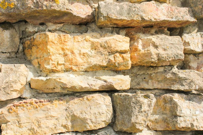 Part of the masonry of the buta. Masonry from rubble plate royalty free stock images