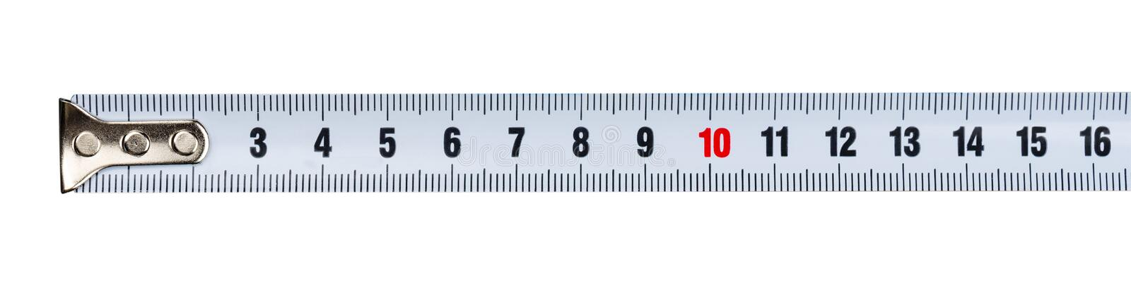 Part of a measuring tape royalty free stock photos