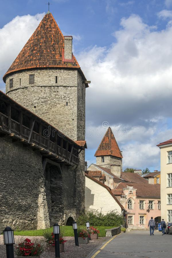 City Walls - Tallinn - Estonia stock images