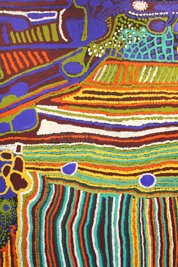 Download Part Of A Modern Colorful Aboriginal Artwork, Australia Stock Photo - Image of australian, colorful: 49299088