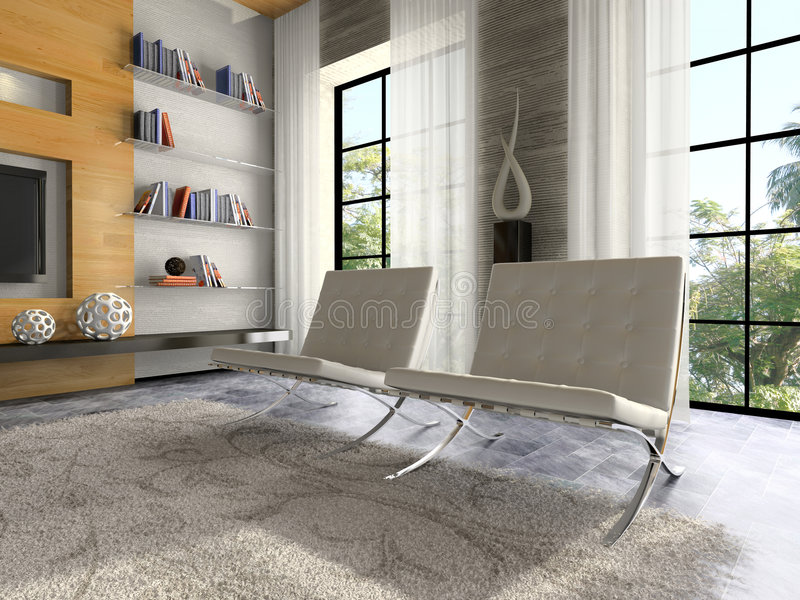 Download Part Of The Modern Apartment Stock Illustration - Illustration of modern, furnishings: 7729152