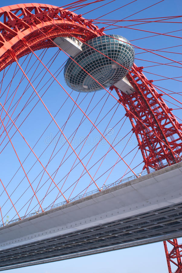 Part Of Modern Bridge With Highway Stock Photography