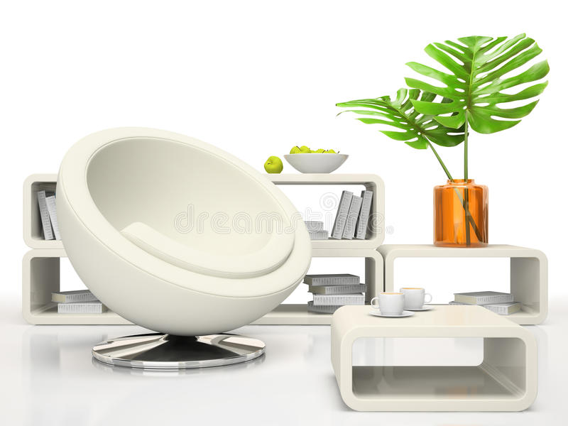 Part of the modern living-room royalty free illustration