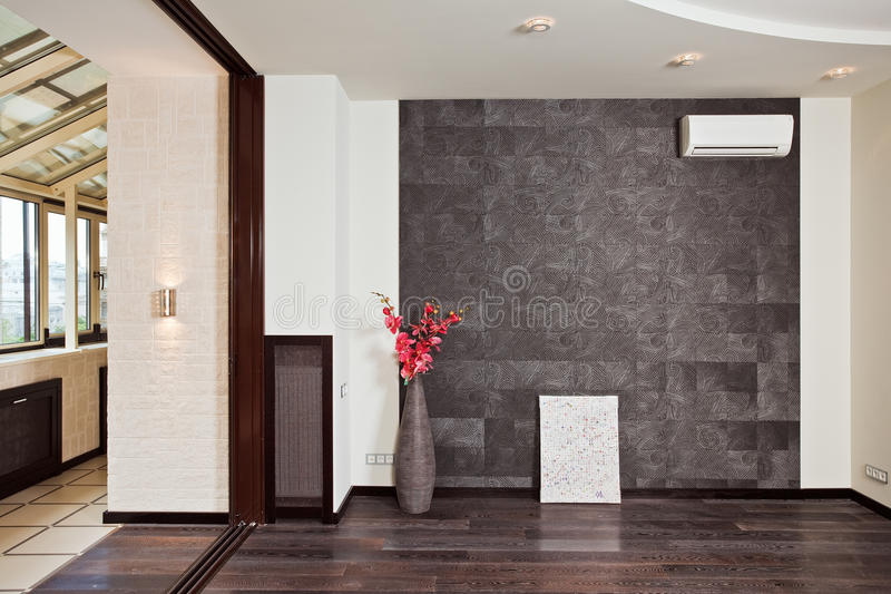 Part of modern studio (drawing room) interior royalty free stock photography