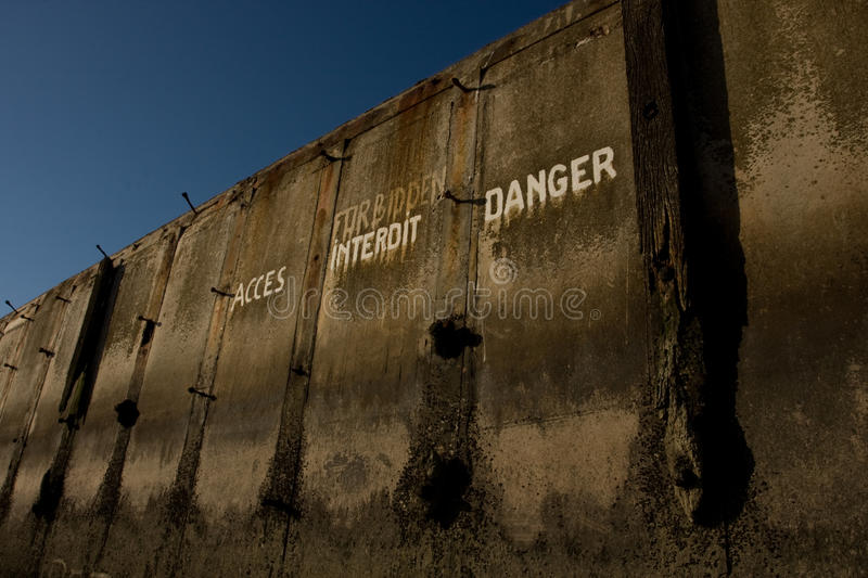 Part Mulberry Harbour stock photo