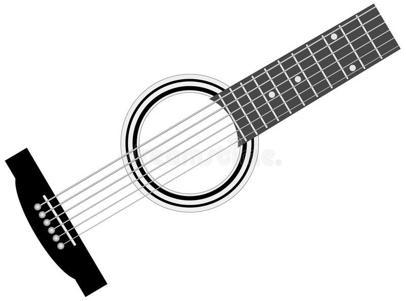 Part of musical instrument - guitar. Abstract part of musical instrument - guitar - vector illustration stock illustration