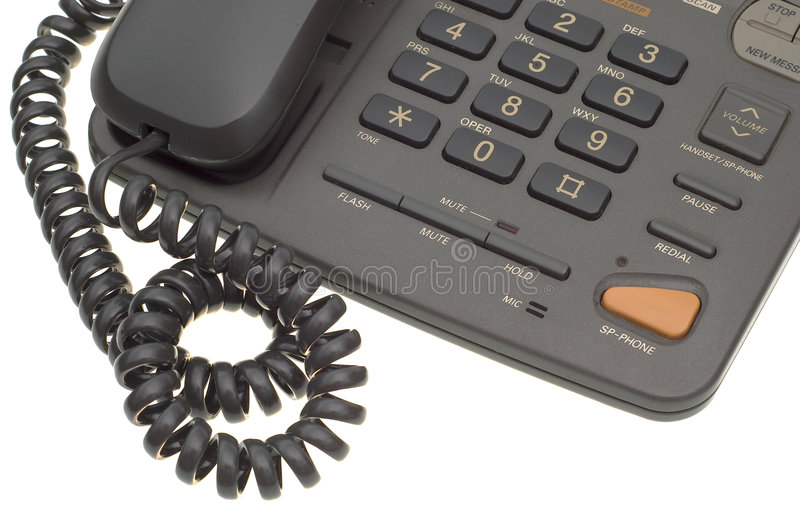 Download Part Of Office Phone With Cord Stock Photo - Image: 7225080