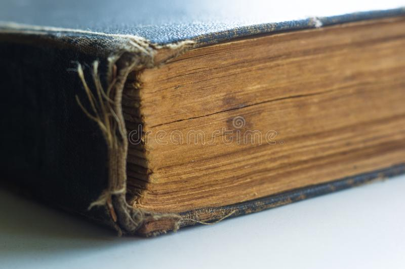 Part of the old tattered books with yellowed pages royalty free stock image