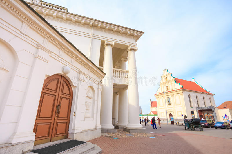Part of the old town - Trinity Hill In Minsk, Belarus stock photography