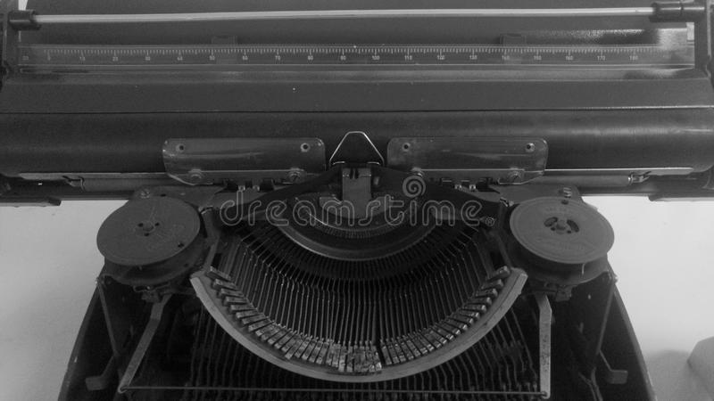 Part of old typewriter royalty free stock photos
