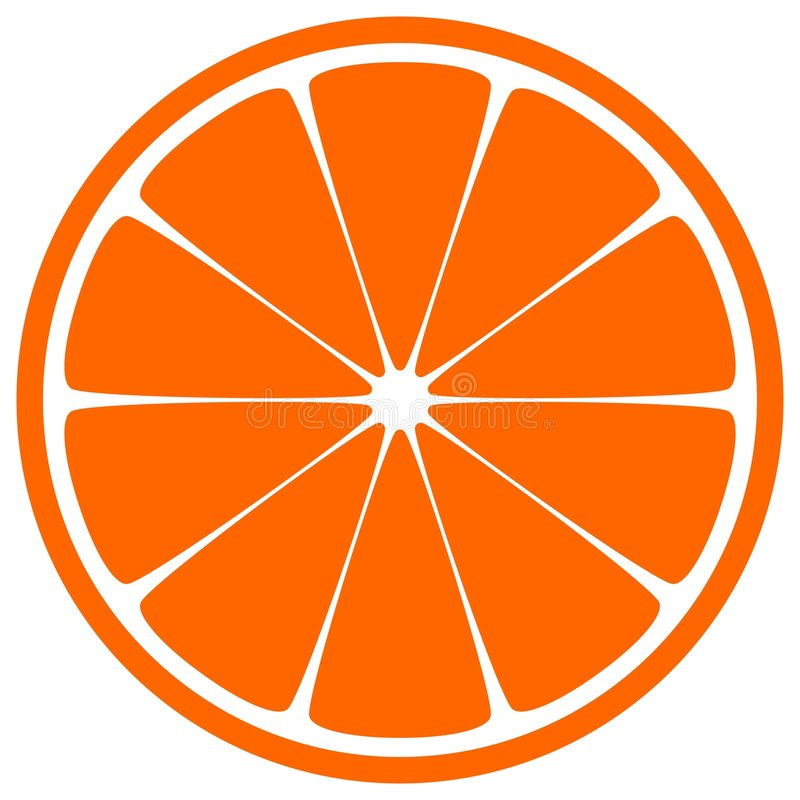 part orange illustration stock
