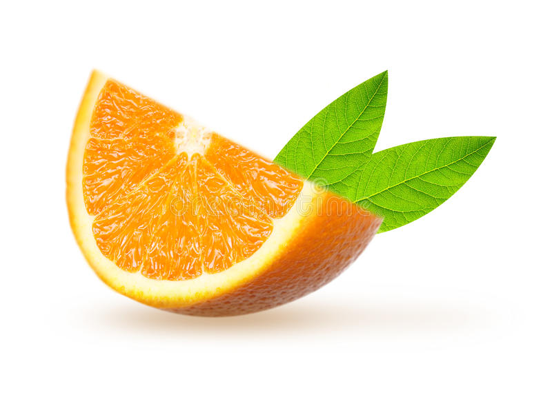Part orange de fruit image stock