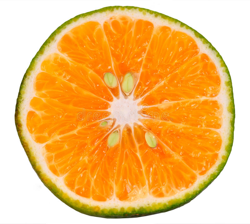 Part orange verte photographie stock libre de droits