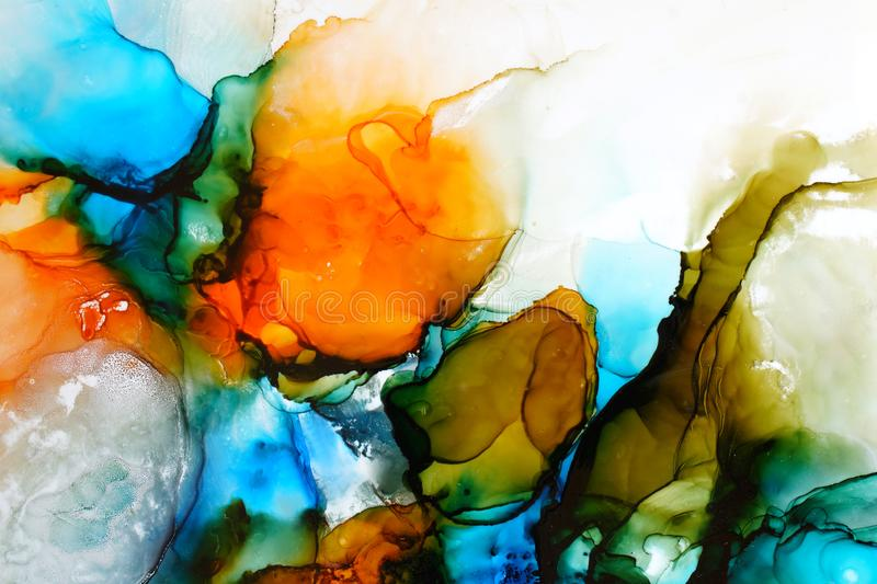 Part of original alcohol ink painting royalty free illustration