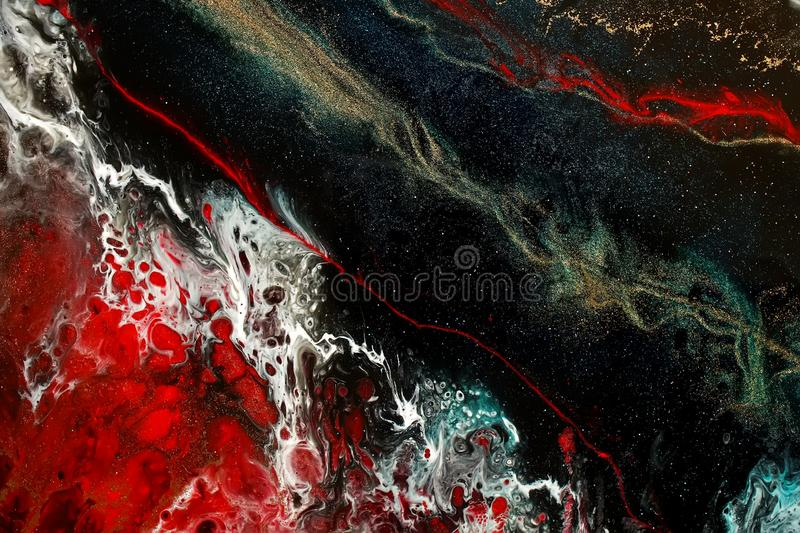 Part of original epoxy resin art royalty free stock photography
