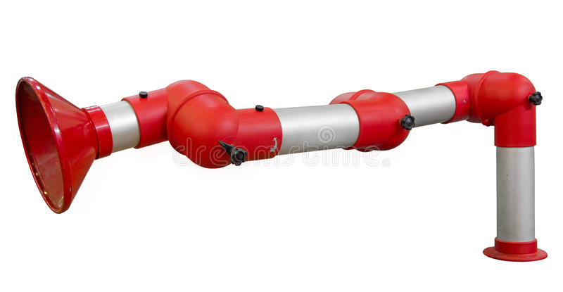 Part of pipeline. Isolated. Clipping path included royalty free stock photo