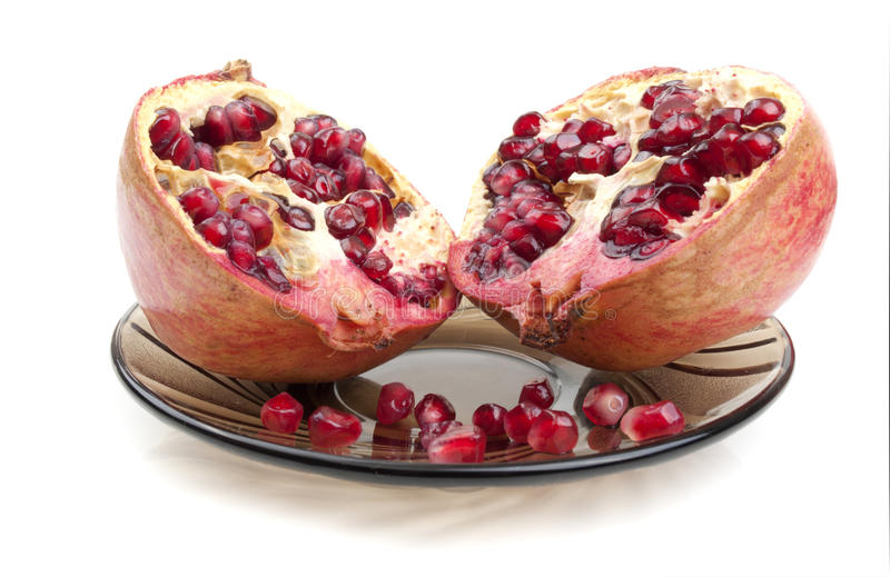 Part Of Pomegranate Stock Images