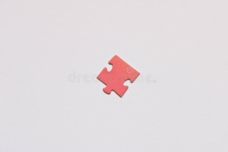 Part of puzzles . Isolated on white background. Pink puzzle stock photography