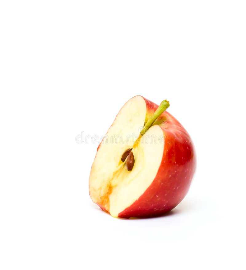 Download Part of red Apple stock photo. Image of gourmet, isolated - 7239710