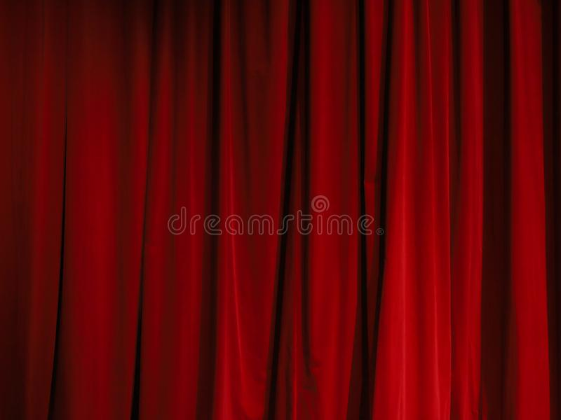 Part of a red curtain stock photos