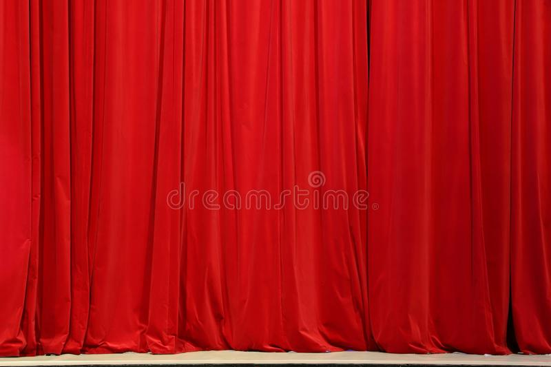 Part of a red curtain stock photo