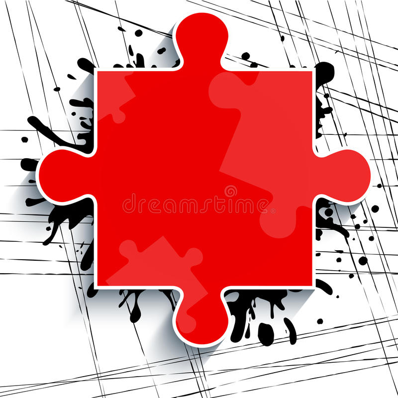Download Part Of A Red Puzzle On A White Background With Strokes Of Paint Stock Illustration - Illustration of space, drop: 33434870