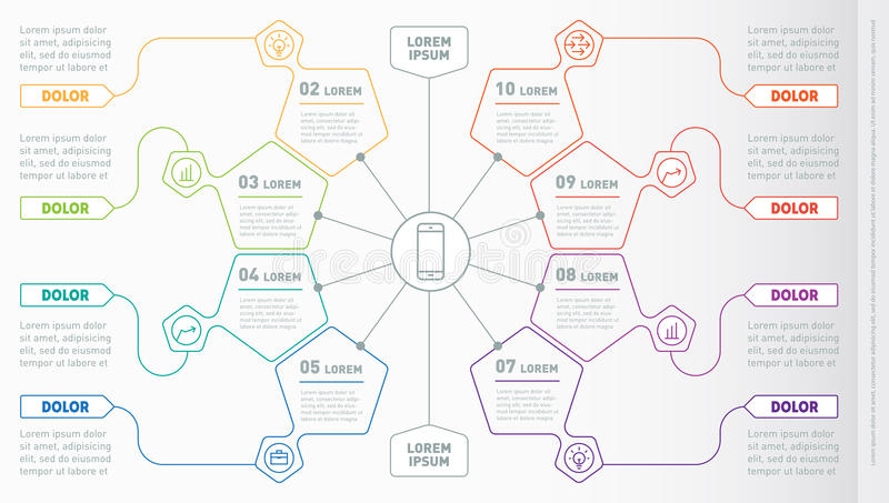Part of the report with icons set. Vector infographic of technology or education process. Business concept with 8 options. Web T. Emplate of a circle infochart vector illustration