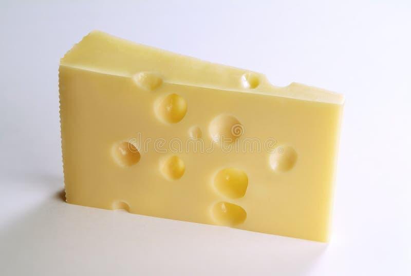 Part simple de fromage suisse photos libres de droits