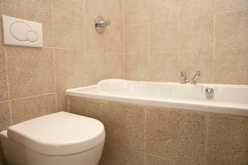 Part of simple interior of modern bathroom stock image