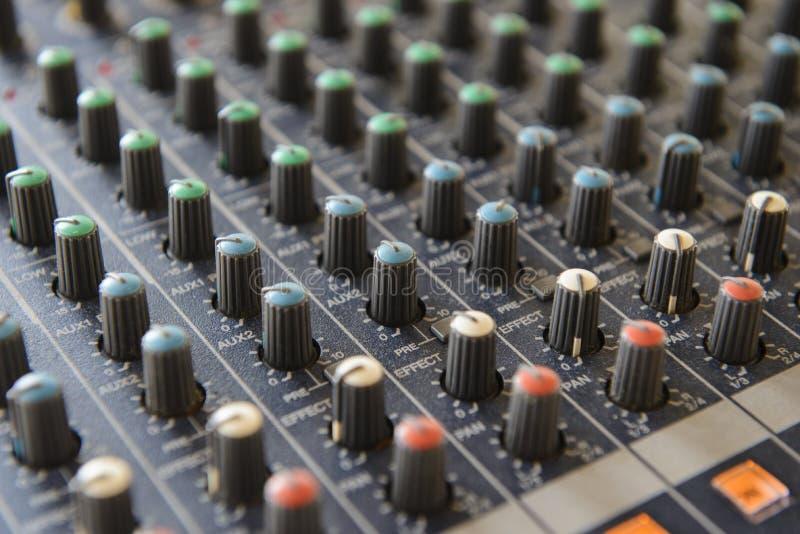 Part sound board mixer stock photos