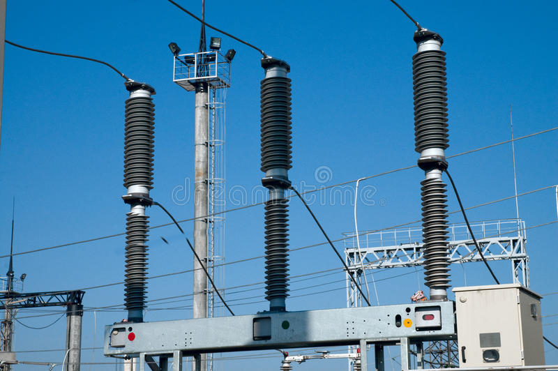 Part of substation royalty free stock photography