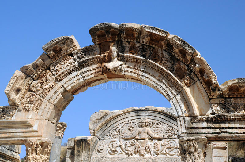 Download Part of Temple of Hadrian stock image. Image of historic - 22235657