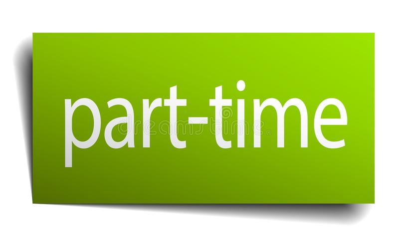 Part-time sign. Part-time square paper sign isolated on white background. part-time button. part-time vector illustration